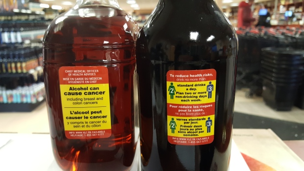 New booze labels in Yukon warn of cancer risk from drinking