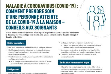Comment prendre soin d'une personne atteinte de la COVID-19 à la maison – conseils aux soignants